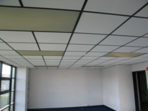 Suspended Ceiling I Thought Painting The Brown Grid